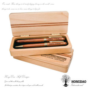 Wooden Pen with Wooden Box Made from Natural Wood
