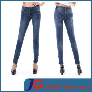 China Factory Young Ladies Basic Jean Pants (JC1220) pictures & photos