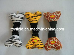 Elastic Plush Bone Squeaky Chew Tug Dog Toy pictures & photos