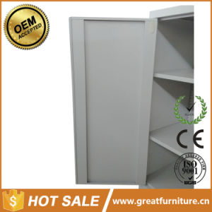 Metal 2 Shelf Glass Door File Cabinet/ 3 Tier Short Glass Door File Cupboard pictures & photos
