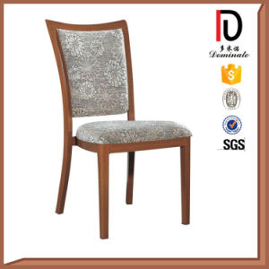 Italian Style Beige Fabric Fake Wood Restaurant Dining Chair pictures & photos