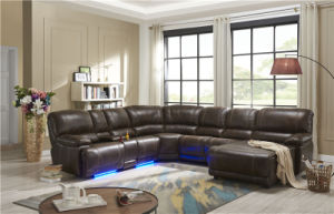 2018 New Sectional Recliner Corner Leather With Led Light