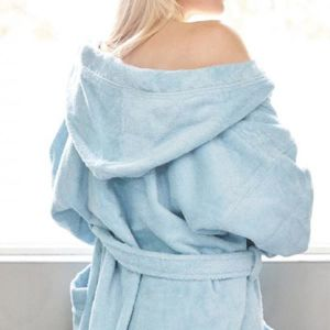Natural Eco-Friendly Unisex Robe Cotton Terry Hooded Bath Robes pictures & photos