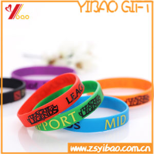 Fashion Custom Logo Silicone/Rubber Wristband for Sport pictures & photos