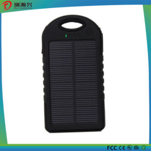 Waterproof silicone solar power bank 5000mAh with CE/RoHS