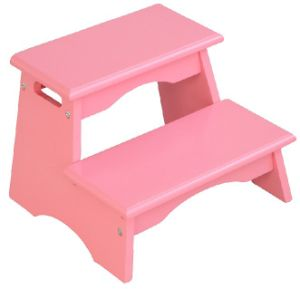 Chair Toddlers Wooden Step Stool