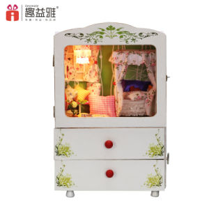 Hot Sale DIY Wooden Toy Music Box Doll House pictures & photos