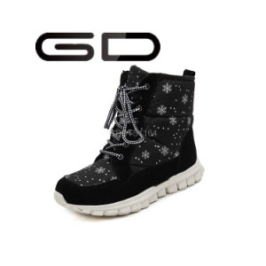 Cute Cheap Long Fur Snow Boots with Rubber Outsole