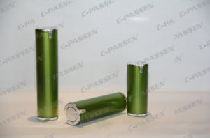 New Arrival Cosmetic Packaging Green Acrylic Cream Lotion Bottle (PPC-ALB-043) pictures & photos
