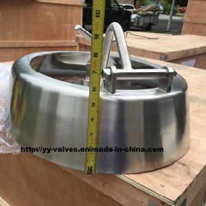 Stainless Steel Oval Shadowless Pressure Manhole Cover pictures & photos