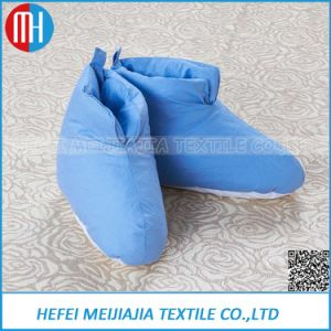 Wholesale Popular White Goose Down Slipper Shoes pictures & photos