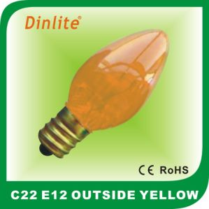 Most popular C22 color incandescent bulb with decorative design pictures & photos