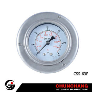 All Stainless Steel Liquid Filled Safety Pressure Gauge Cc1 Type