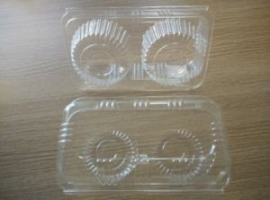 Disposable Biodegradable PLA Cup Cake Box pictures & photos