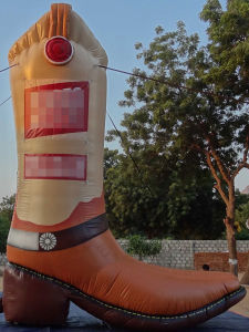 High Quality Inflatable Cowboy Inflatable Shoes Boot for Sale