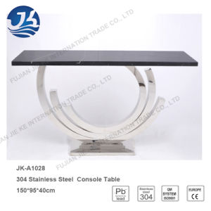 2016 Factory Supply Natural Black Marble Stainless Steel Console Table