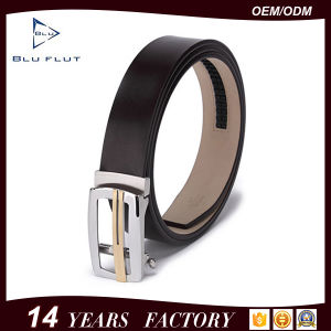 Custom Belt Factory Supply Hollow Steel Buckle Leather Waist Belt pictures & photos