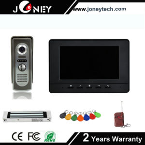 Home Security Alarm System 7 Inch Waterproof Digital Color Video Door Phone for Apartments pictures & photos