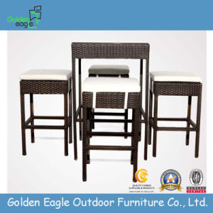 PE Aluminium Garden Wicker Outdoor Bar Set