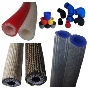 Briaded Silicone Hose / Glass Fabric Reinforced Silicone Hose / Vacuum Tubing, ISO Certificated Manufacturer
