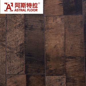 12mm Dark Cherry Beveled Water Proof with Valinger HDF Laminate Flooring pictures & photos