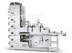 Label Flexo Printing Machine with 3 Die-Cutting Stations pictures & photos