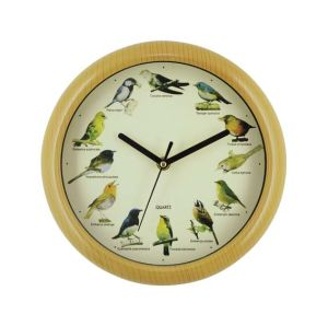 Plastic Bird Sound Clock Approve ISO9001 CE&RoHS Production