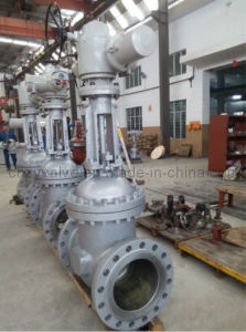 Big Size High Preesure 6.4MPa Casting Steel Gate Valve with Electric Actuator pictures & photos