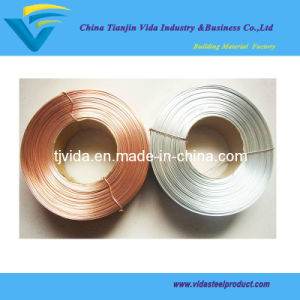 Flat Stitching Wire Galvanized and Copper Coated Steel Wire