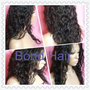 Hot Sale Virgin Remy Peruvian Hair Wavy Full Lace Wigs pictures & photos