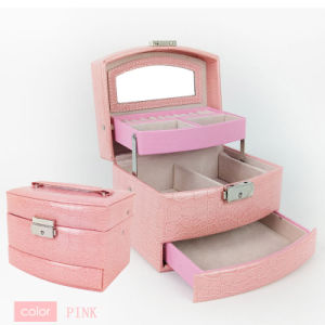 Wholesale Pink Luxury Jewelry Packing Set Box Cosmetic Case for Jewelry