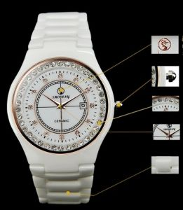 High Quality Ceramic Watch and Japan Quartz Movement with Analog Display (sw023)