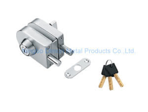 Dimon Sliding Glass Door Lock Single Door Double Cylinder Central Lock with Knob (DM-DS 65-4B)