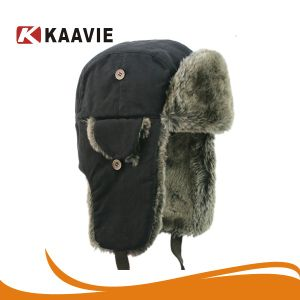 China Men Earflap Bomber Hat Trooper Trapper Earflap Aviator Hat Russian Winter  Hat - China Earflap Bomber Trapper Hat 6cc393f35f1