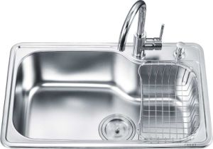 Top Mount Single Bowl Kitchen Sink (OA-7246)