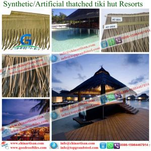 Flame Resistant Synthetic Plastic Palm Thatch Caribbean Natural Look pictures & photos