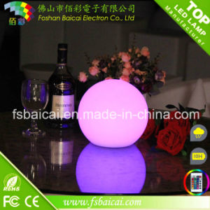 RGB Remote Control Waterproof Lighted Floating Ball, Plastic LED Floating Ball