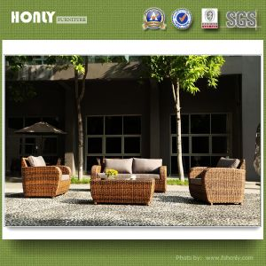 Garden PE Rattan Furniture Outdoor Synthetic Rattan Furniture Sofa Set