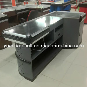 Steel Supermarket Cashier Checkout Counter for Sale pictures & photos