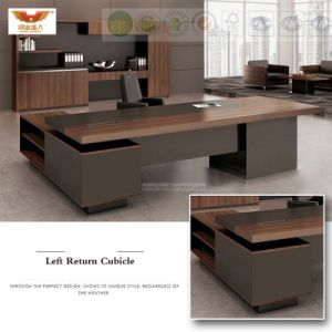 Fsc Forest Certified Approved by SGS Wooden Melamine Office Furniture Modern L Shape Executive Office Desk Executive Office Desk (HY-589) pictures & photos