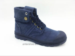 Middle Cut Lace up Canvas Women Winter Shoes (ET-XK160272W)