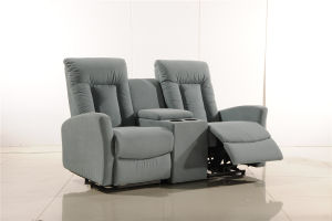Italy Leather Sofa Sets Manual Function Furniture for Cinema Home