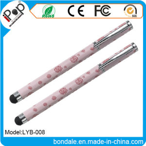 Stylus Pen 2 in 1 Stylus Rose Ballpoint Pen for Touch Panel Equipment