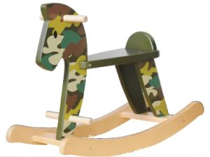 Different Silk Print Patterns Wooden Rocking Toy- Horse pictures & photos