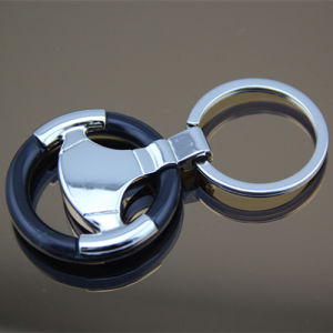 New Steering Wheel Shape Metal Car Keyring for Promotion (F1003A)