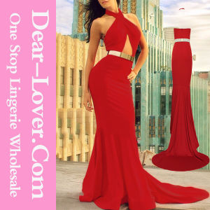 Red Cutout Mermaid Long Evening Prom Dress pictures & photos
