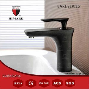 Black-Paint Single Hole Faucet (Solid Brass Construction) with Himark