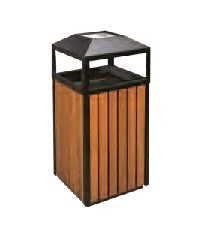 Recycling Wood Dustbin/Garbage Can (DL 112) pictures & photos