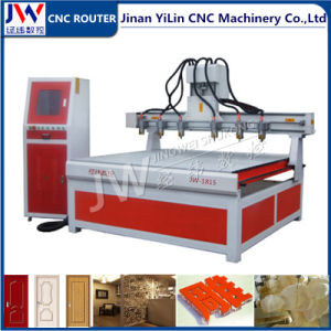 Multi-Spindle Woodworking CNC Router for 3D Stereoscopic Relief Carving