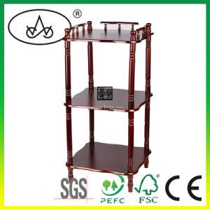 3 Tier Bamboo Storage Shelf Organizer Display Shelf Rack Bonsai Shelf